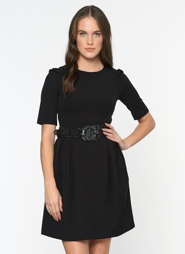 Bovona Kısa Kol Kloş Elbise